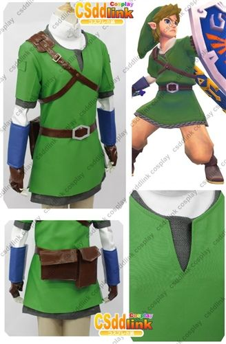 e281932bfe The legend of zelda skyward sword Link Cosplay Costume