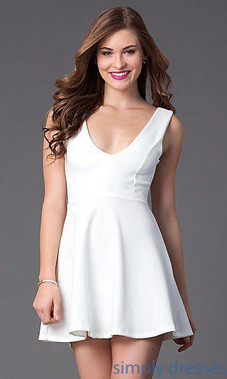 Short Sleeveless V-Neck Dress at SimplyDresses.com
