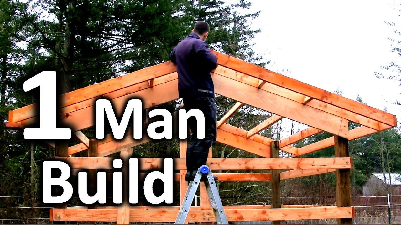 How to Build a Tiny Pole Barn in 5 MINUTES