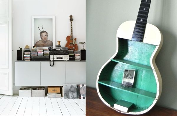 Ideas for decorating music room blog to start off a series of personality based home decor - Guitar decorations for bedroom ...