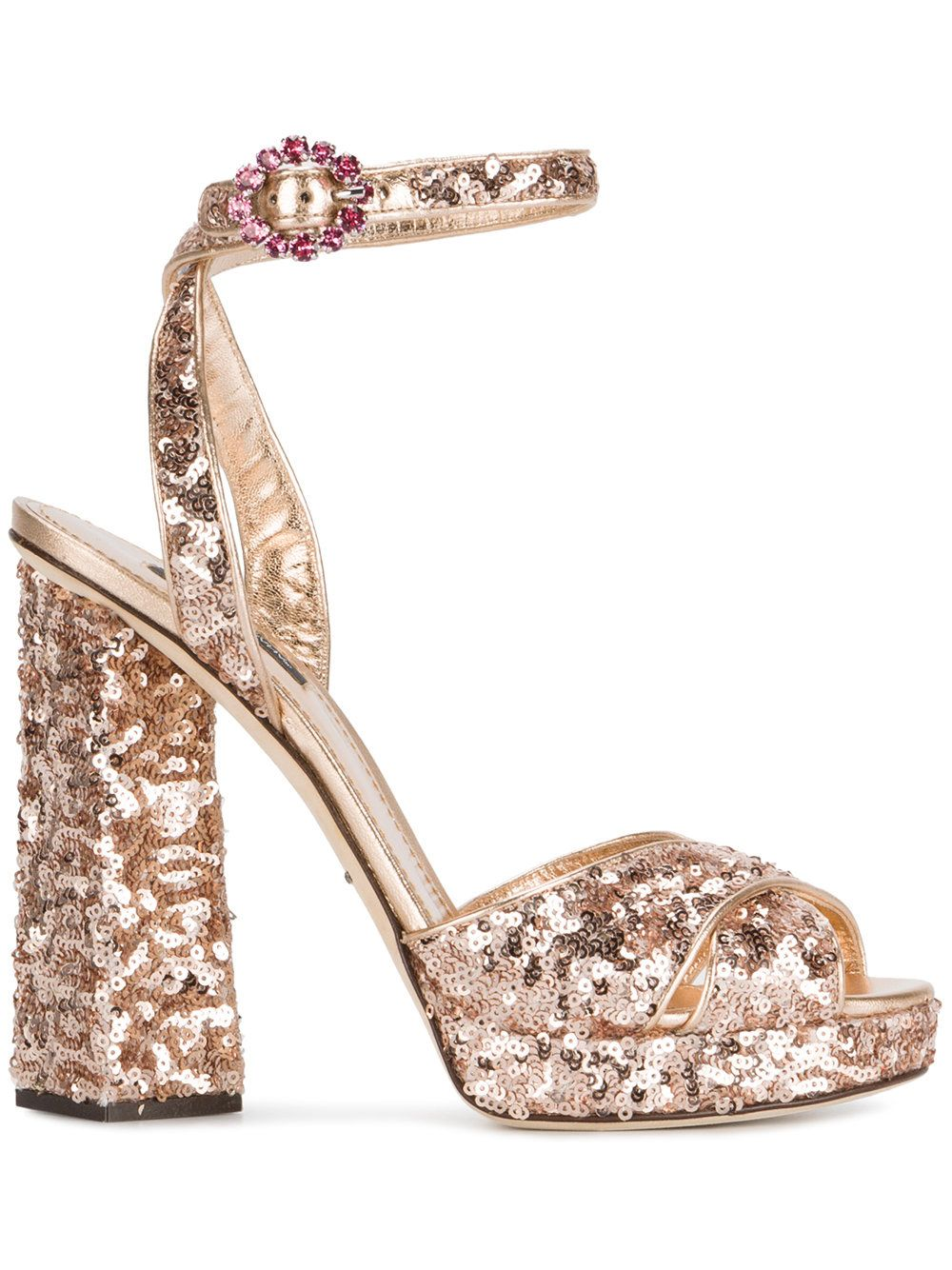 clearance free shipping outlet fashionable Dolce & Gabbana Sequin Platform Sandals buy cheap clearance store n7iTadAab