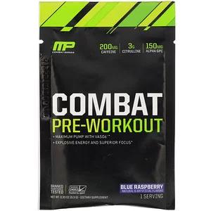 Musclepharm Combat Pre Workout Blue Raspberry 0 33 Oz 9 3 G Trial Size Iherb Muscle Pharm Preworkout Blue Raspberry