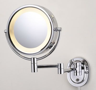 Makeup Mirror, Pansonite Led Wall Mount Makeup Mirror With 10x Magnification