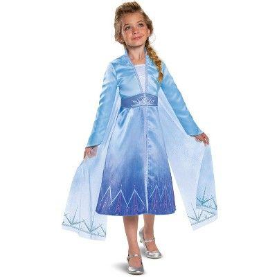 Frozen Frozen 2 Elsa Prestige Child Costume X Small 3t 4t In 2021 Movie Fancy Dress Frozen Dress Elsa Costume