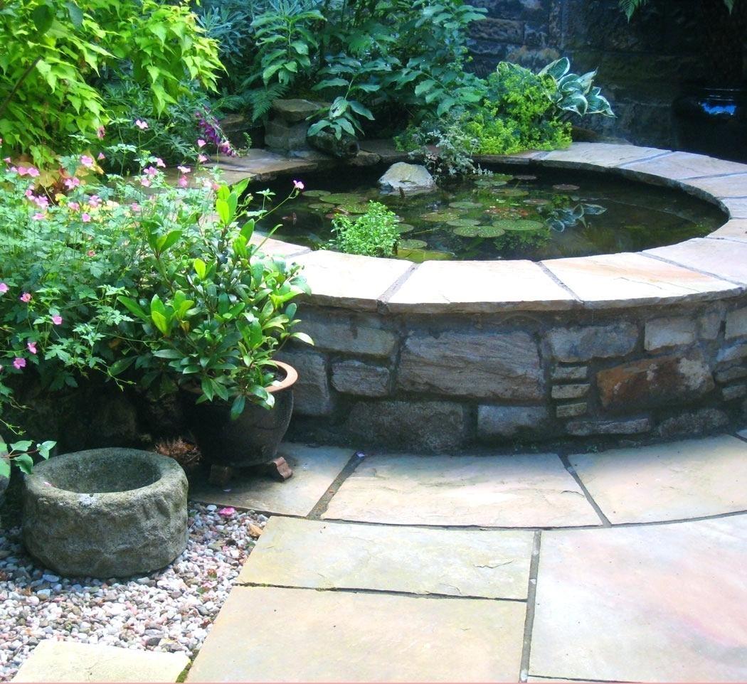 Courtyard Garden With Raised Pond West End Glasgowideas ... on Raised Garden Ponds Ideas id=53045
