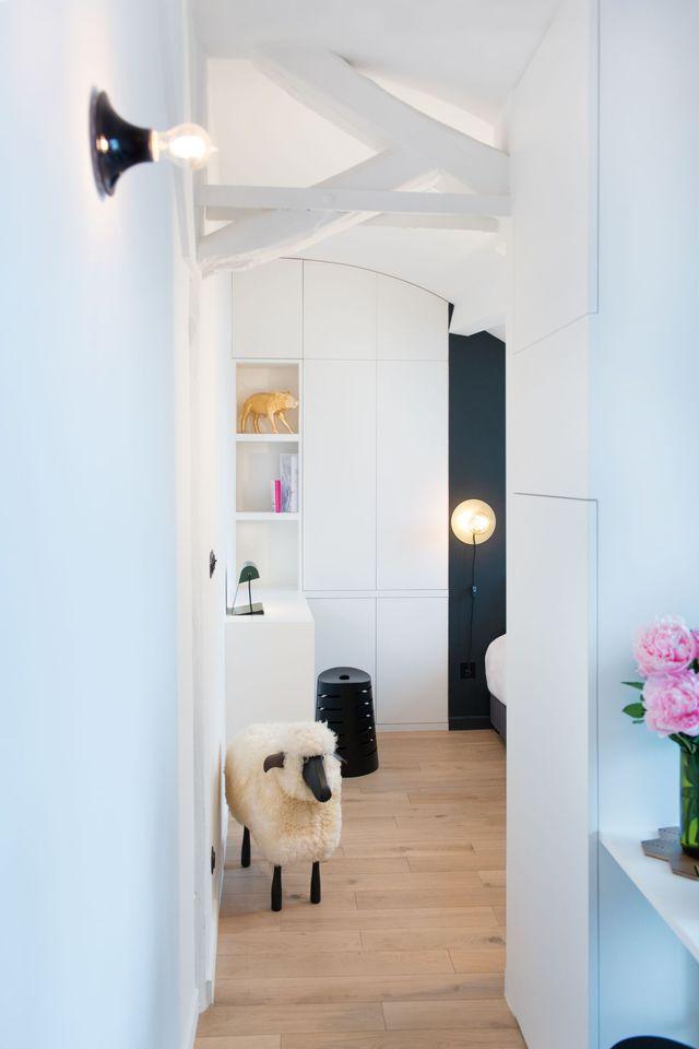 studio paris 14 : 18 m2 sobres et élégants   architecture et