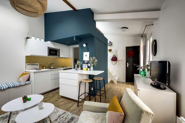 Canon ce 27 m2 optimis aux batignolles architecte - Architecte interieur paris petite surface ...