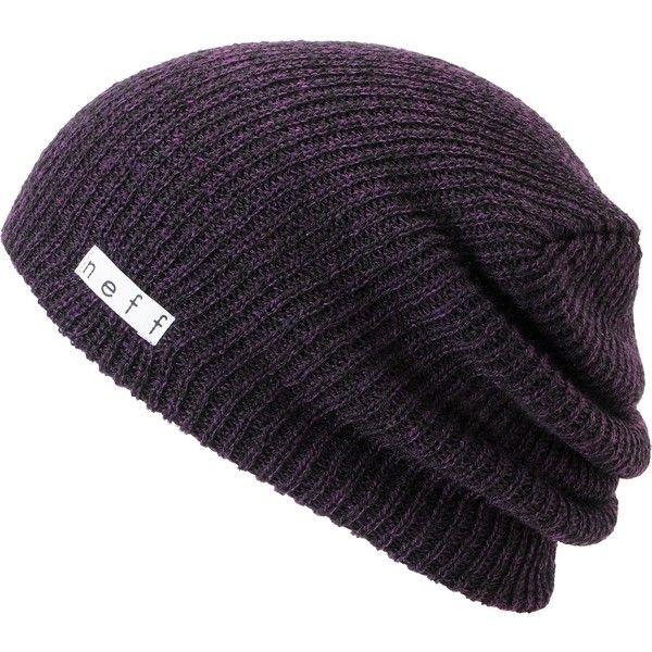 14dda1ff4 Neff Daily Black Purple Heather Beanie ($19) ❤ liked on Polyvore ...
