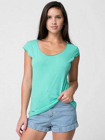 Sheer Jersey 2-Sided Top | American Apparel