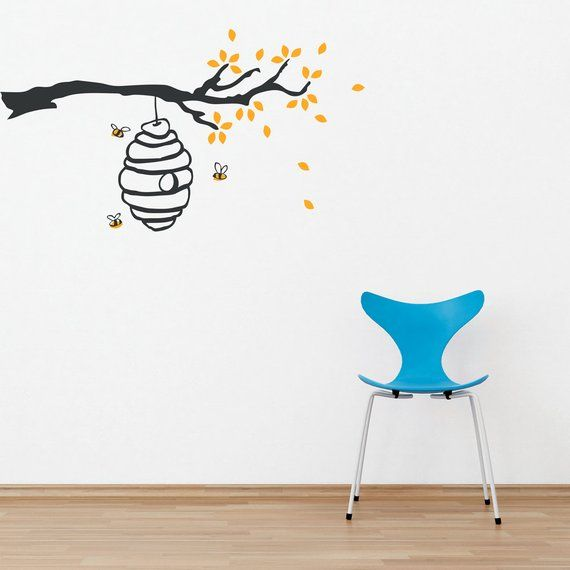 Buzzing Beehive Vinyl Wall Decal Sticker Honey Bee Decor Country