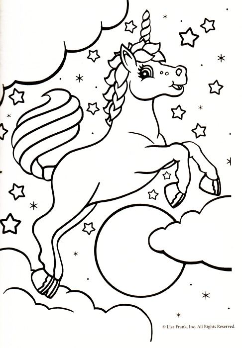 unicorn coloring page makaila loves ponycorns - Lisa Frank Coloring Pages