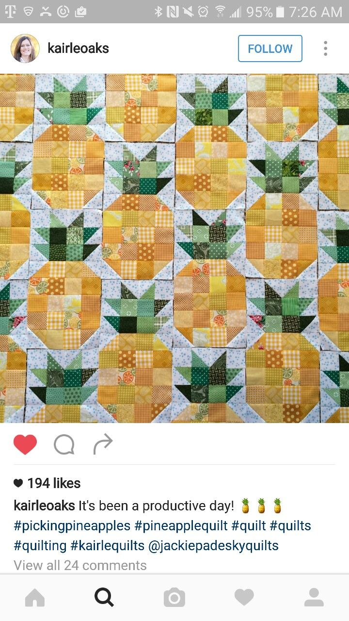 Cute Pineapple Quilt Blocks Quilts Of Mine Pinterest Patchwork