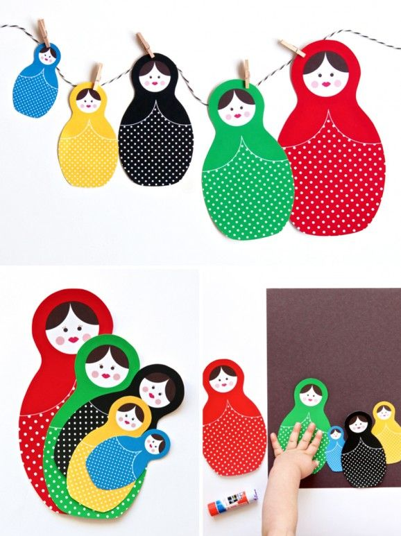 Winter Olympics Craft Idea Russian Dolls Paging Supermom Nesting Dolls Craft Doll Crafts Russian Doll