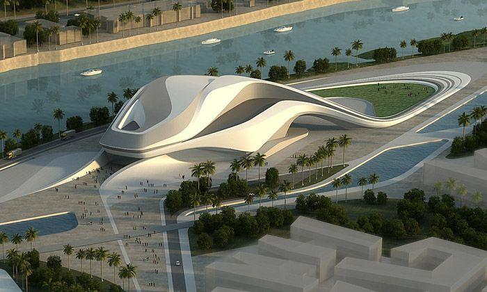 chengdu contemporary arts center zaha hadid architect futuristic architecture pinterest. Black Bedroom Furniture Sets. Home Design Ideas