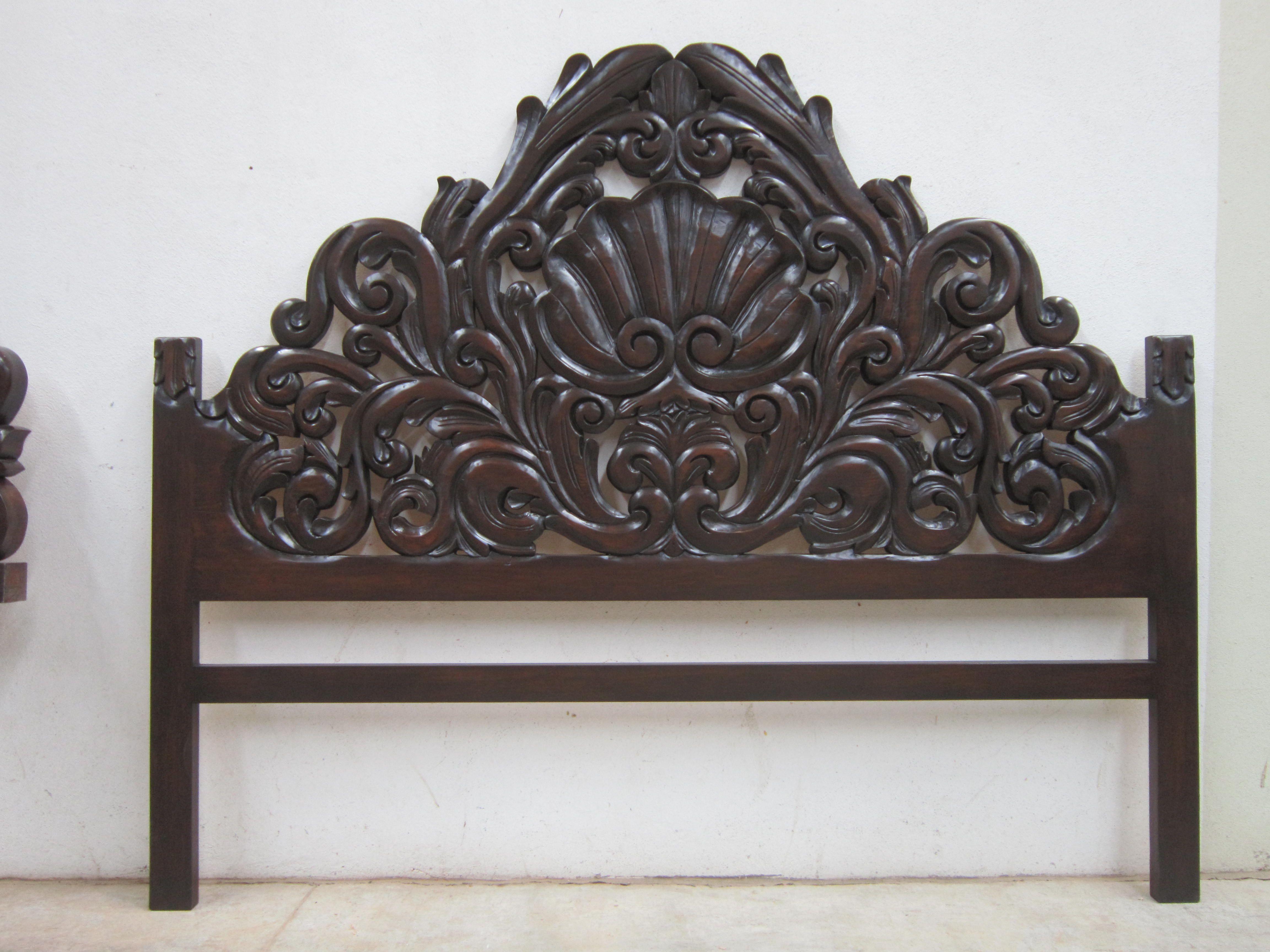 cabecera tallada colonial   whaqt a beautiful wood work ...