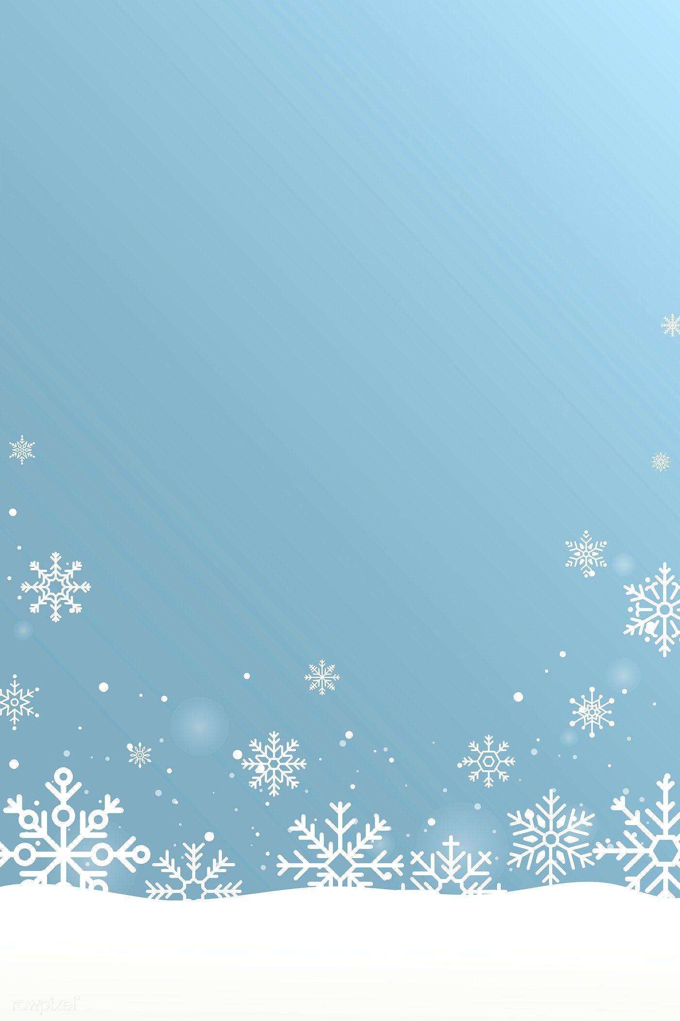 Download premium vector of Blue snowflake Christmas frame