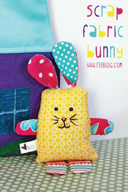 Scrap Fabric Bunny