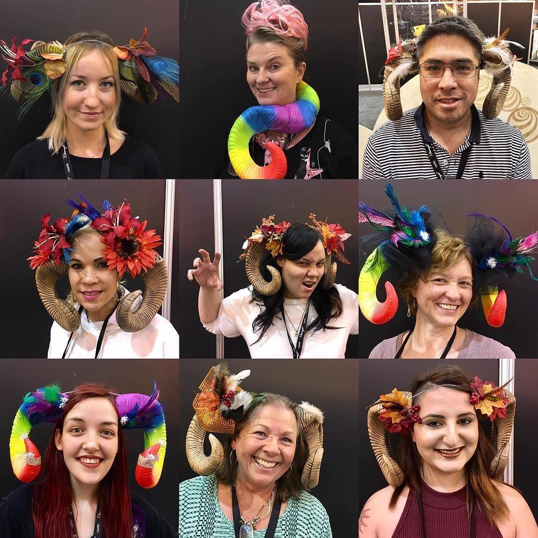 #flashbackfriday to some more #DIY  fabulousness from our Maker Space at #thehpe! . #laughwithelope #createadventure #wearhappiness #horns #create #design #costume #cosplay #fun #feathers