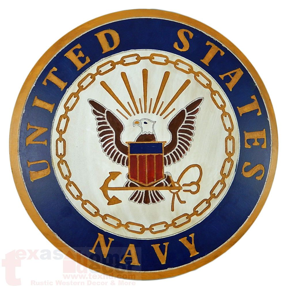 US NAVY ROUND SMALL SIZE RETIRED  EAGLE INSIGNIA PLAQUE shadow box  size