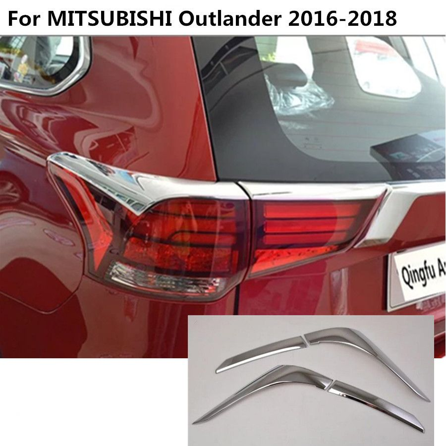 For Mitsubishi Outlander  2016-2018 ABS Chrome Rear Tail Light Lamp Trim Cover
