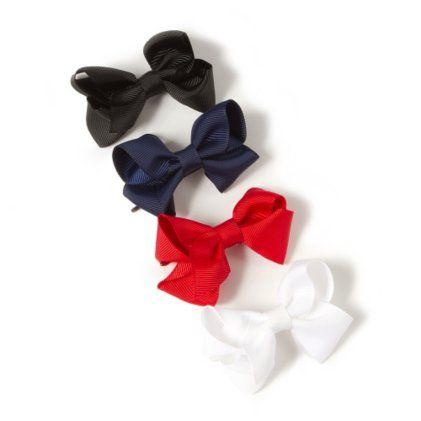 Ribbon Bow Hair Pins Set of 4
