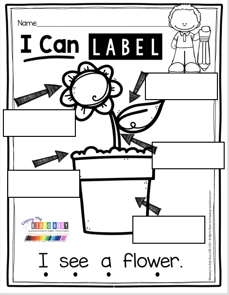 Writing At The Beginning Of The Year In Kindergarten Labeling Freebie Keeping My Kiddo Busy In 2020 Learn To Read Kindergarten Kindergarten Freebies Spring Kindergarten
