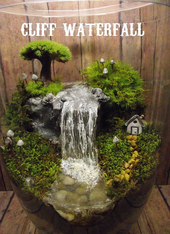 Add A Miniature Waterfall, Pond Or River To Your Terrarium   Unique  Terrarium Accessory   Handmade By Gypsy Raku   Fairy Gardens