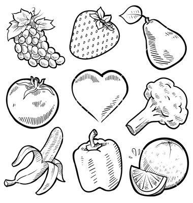 Doodle Healthy Food Vector Art - Download Healthy Vectors - 1112613 | Remodel | Pinterest | Doodles