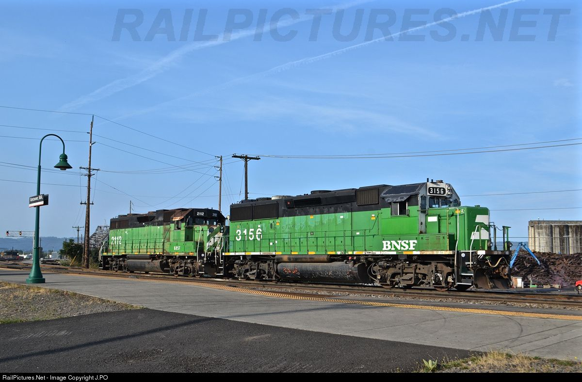 RailPictures.Net Photo: BNSF 3156 BNSF Railway EMD GP50 at Vancouver, Washington by J.PO