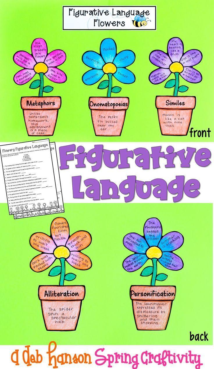 Figurative Language Craftivity With Flowers Alliteration Simile