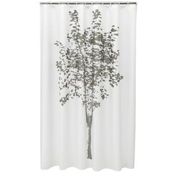 Home Classics Painted Tree Fabric Shower Curtain Fabric Shower