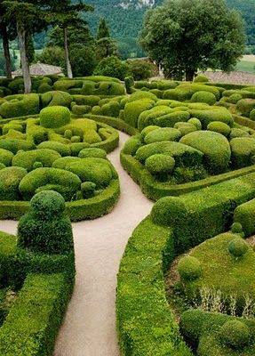 Chateau De Marqueyssac Garden A La Francaise Vezac Dordogne