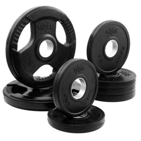 Rubber Coated Olympic Weight Plate Set XM-3377-BAL-45 NEW XMark 45 lb