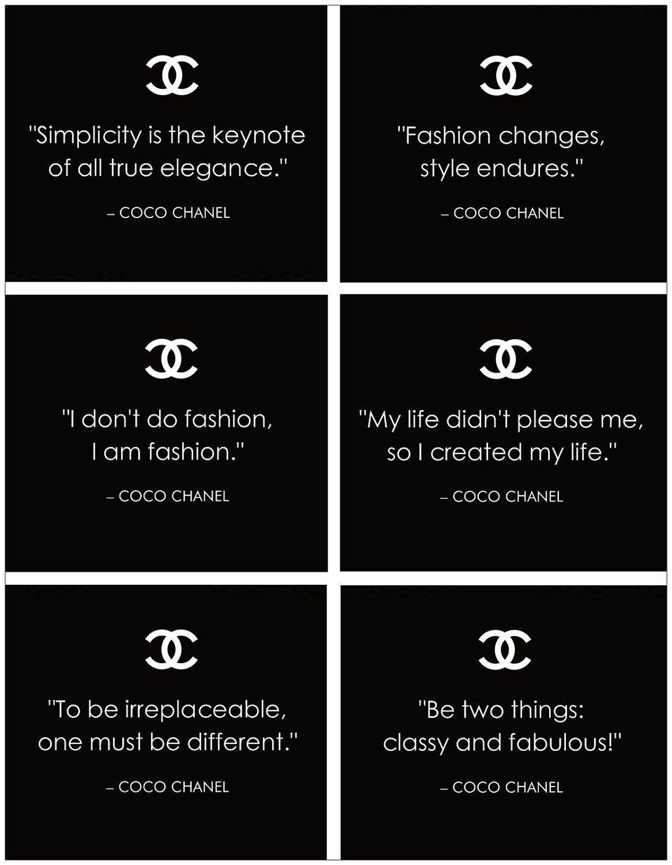 Sprüche englisch chanel Coco Chanel