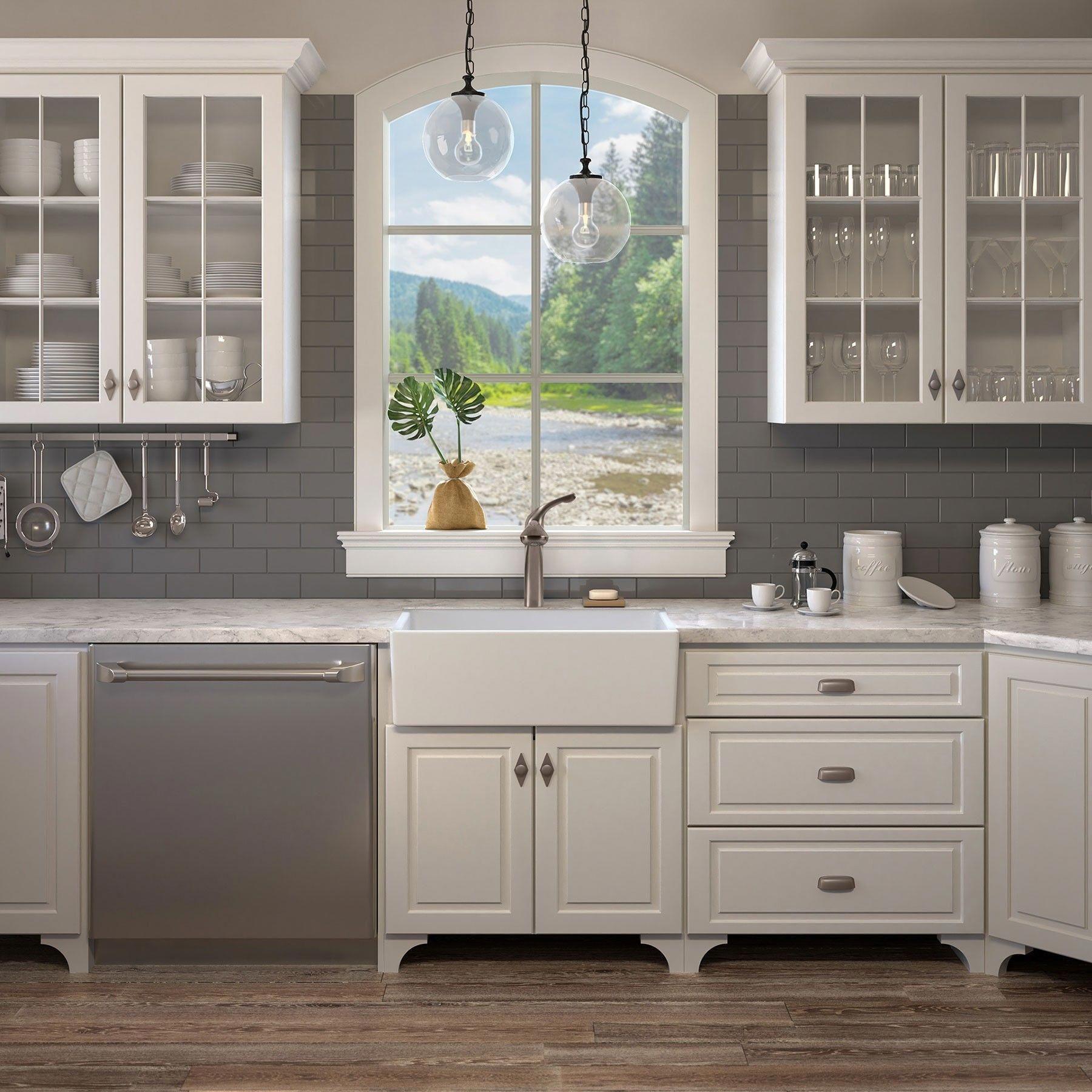 Surrey 30 Fireclay Farmhouse Kitchen Sink Farmhouse Sink Kitchen Kitchen Cabinets Kitchen Style