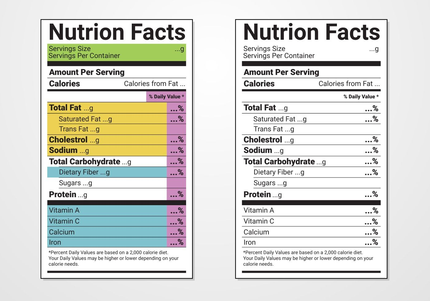Nutrition Facts Free Vector Art