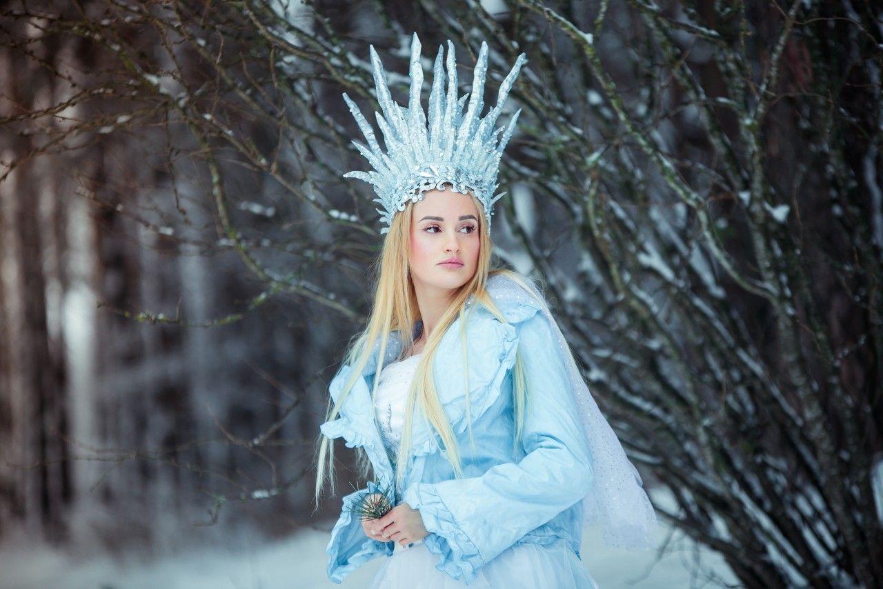 Фотосессия снежная королева фото