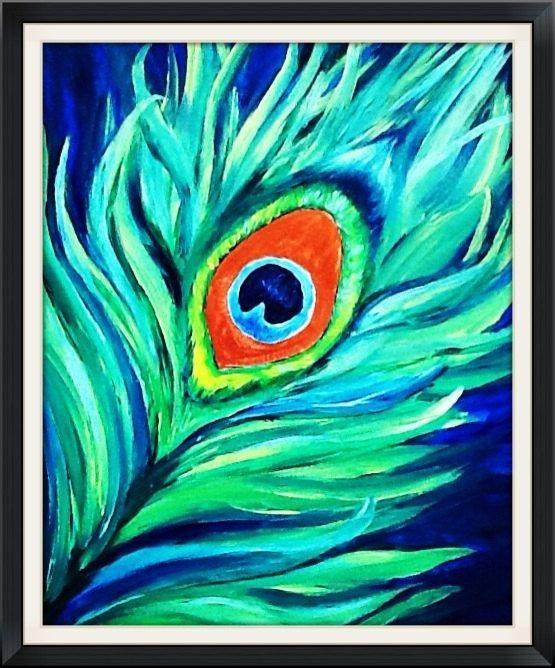 Acrylic Modern Art Peacock Painting