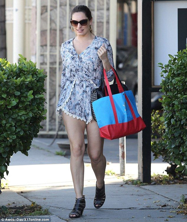 00b65dd970e There s a pattern emerging  Kelly Brook sported a vibrantly printed playsuit  for a day out