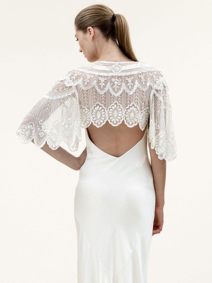 Jenny Packham Vintage Bolero Bridal Jacket Wedding Dress Trends Backless Wedding Dress