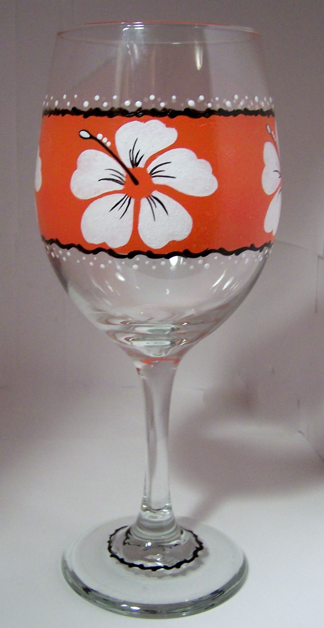 Sun Kissed Painted Wine Glasses Painted Wine Glass Painting Glassware