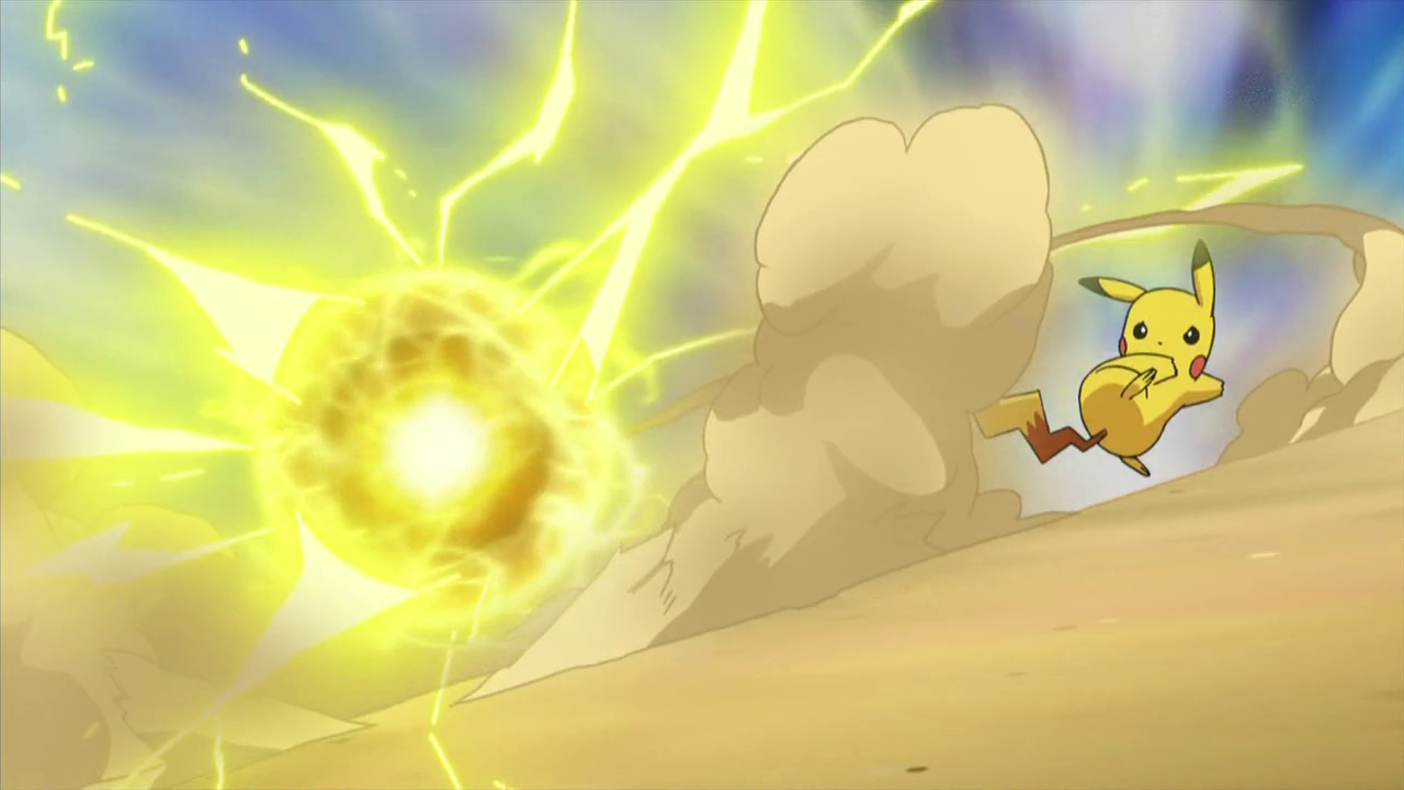 Electro Ball: Pikachu fires a ball of electricity at the opponent ...