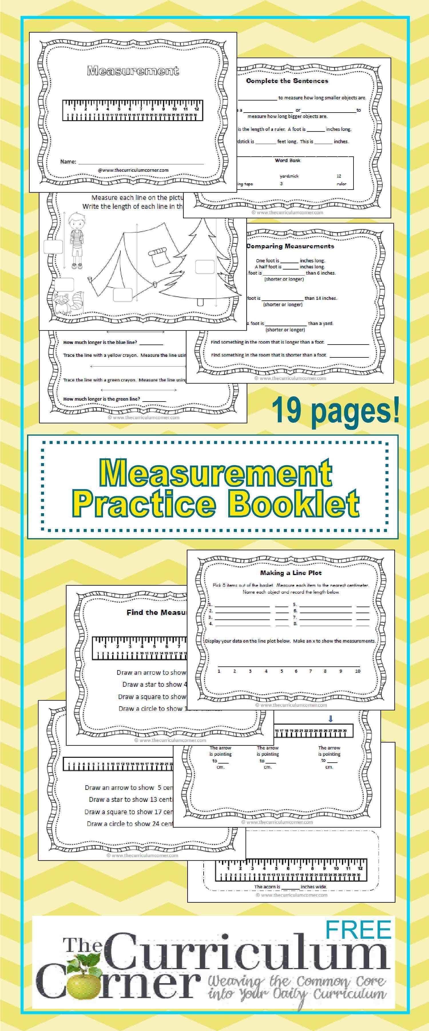 Linear Measurement Practice Booklet