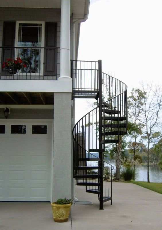 Best Aluminum Exterior Stairs Google Search In 2019 640 x 480