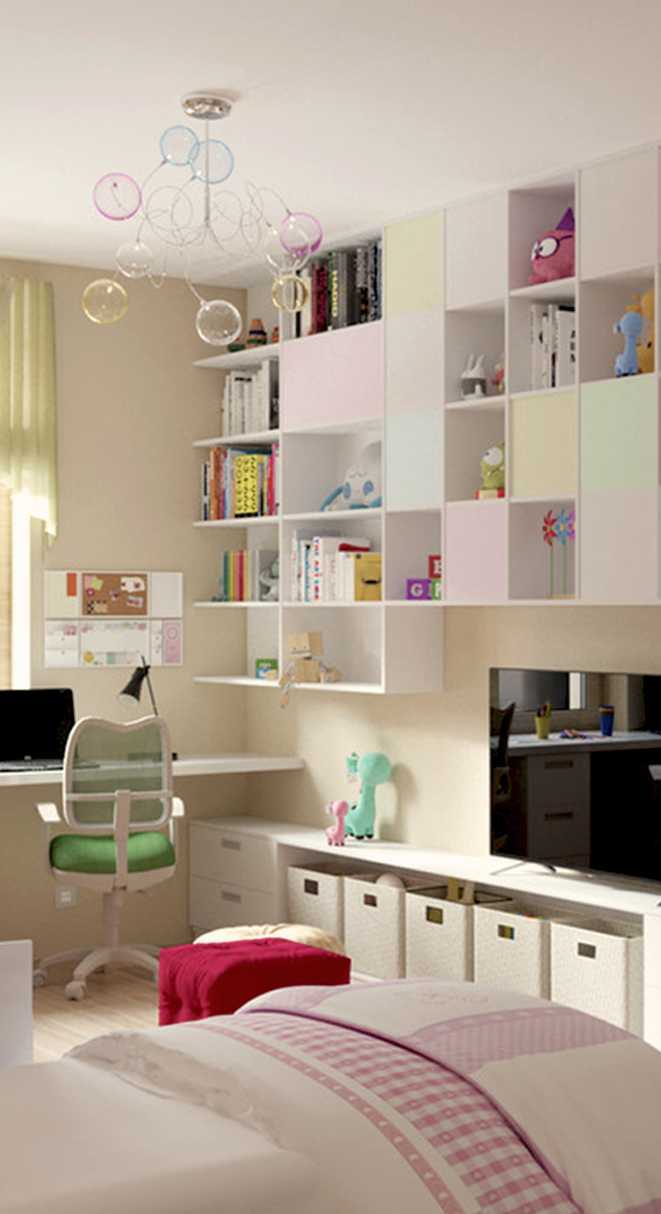 Mueble melamina color blanco muebles de melamina for Muebles modulares juveniles