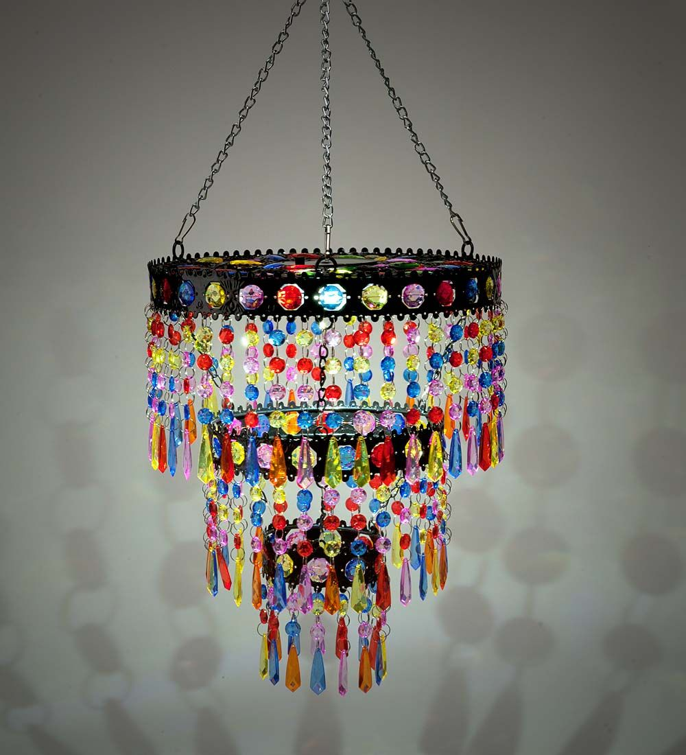 Colorful Solar Mini Chandelier In Solar Garden Decorationsverified Replyverified Replyverified Buyerverified Buyerv Solar Chandelier Mini Chandelier Chandelier