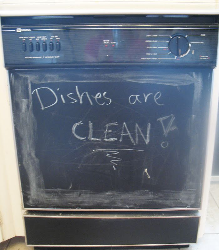 Instant chalkboard dishwasher cover appliance art for Chalkboard appliance paint