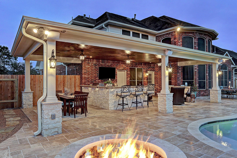 Friendswood Outdoor Living Space Texas Custom Patios Outdoor Living Rooms Backyard Pool Designs Outdoor Kitchen Patio