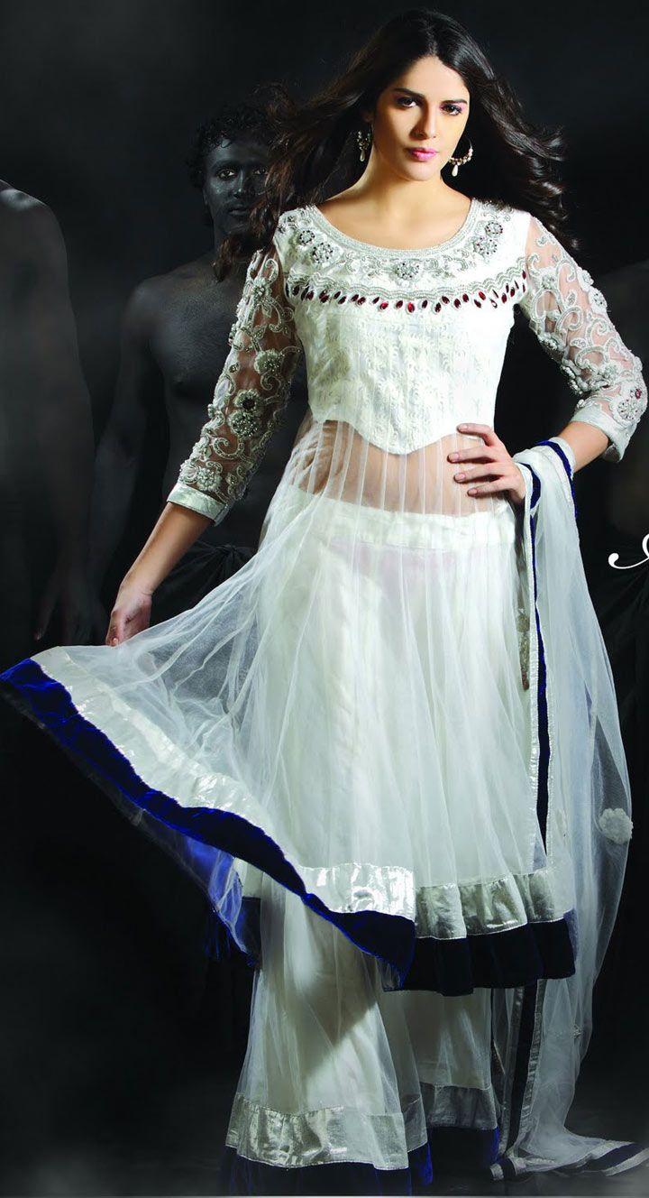 Cream Net Sharara, Party Wear Outfit, Designer Wedding Wear, Wedding ...