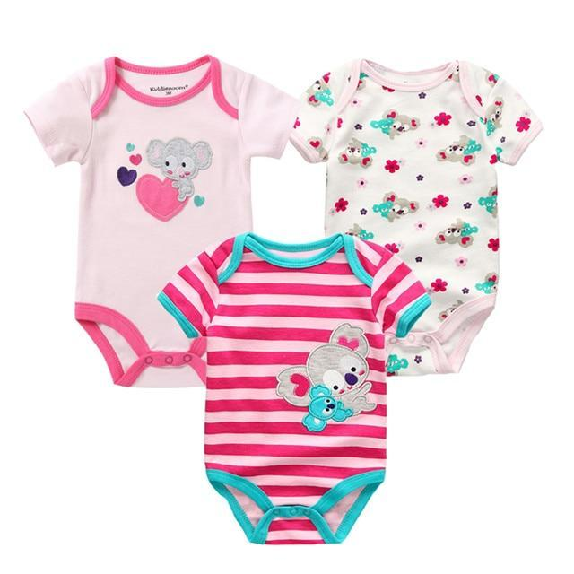 6a345e1da254 3PCS LOT Baby Bodysuit Newborn Bebe Boy Girl Clothing 100%Cotton ...